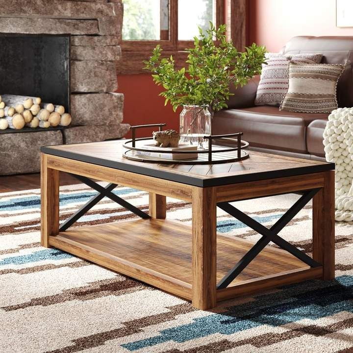 Laurel Foundry Modern Farmhouse Battershell Coffee Table With Lift