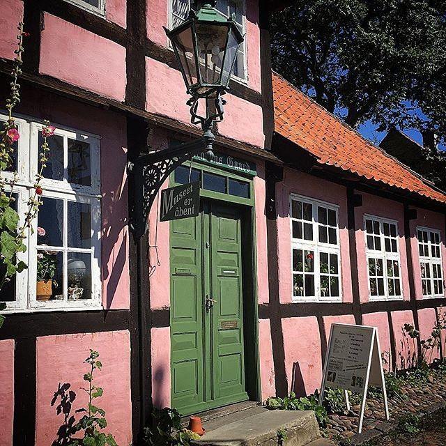 Little pink houses...nothing like this one in Rønne on the island of Bornholm.  Thanks @morre_denmark for sharing via #visitdenmark.  #visitbornholm #bornholm #islandhopping #architexture by govisitdenmark