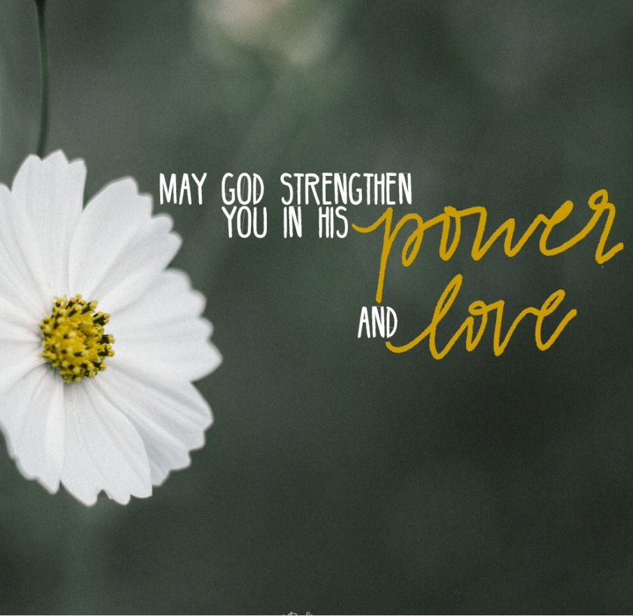 May God Strengthen You....