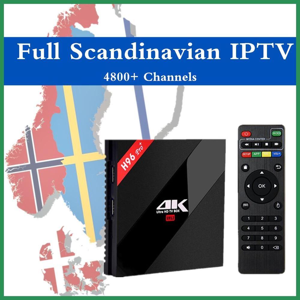 Scandinavian Iptv H96 Pro Android 7 0 Tv Box Iptv Danish Norwegian Swedish Europe Iptv 4700 Chanel Amlogic S912 3g 32g H 265 4k