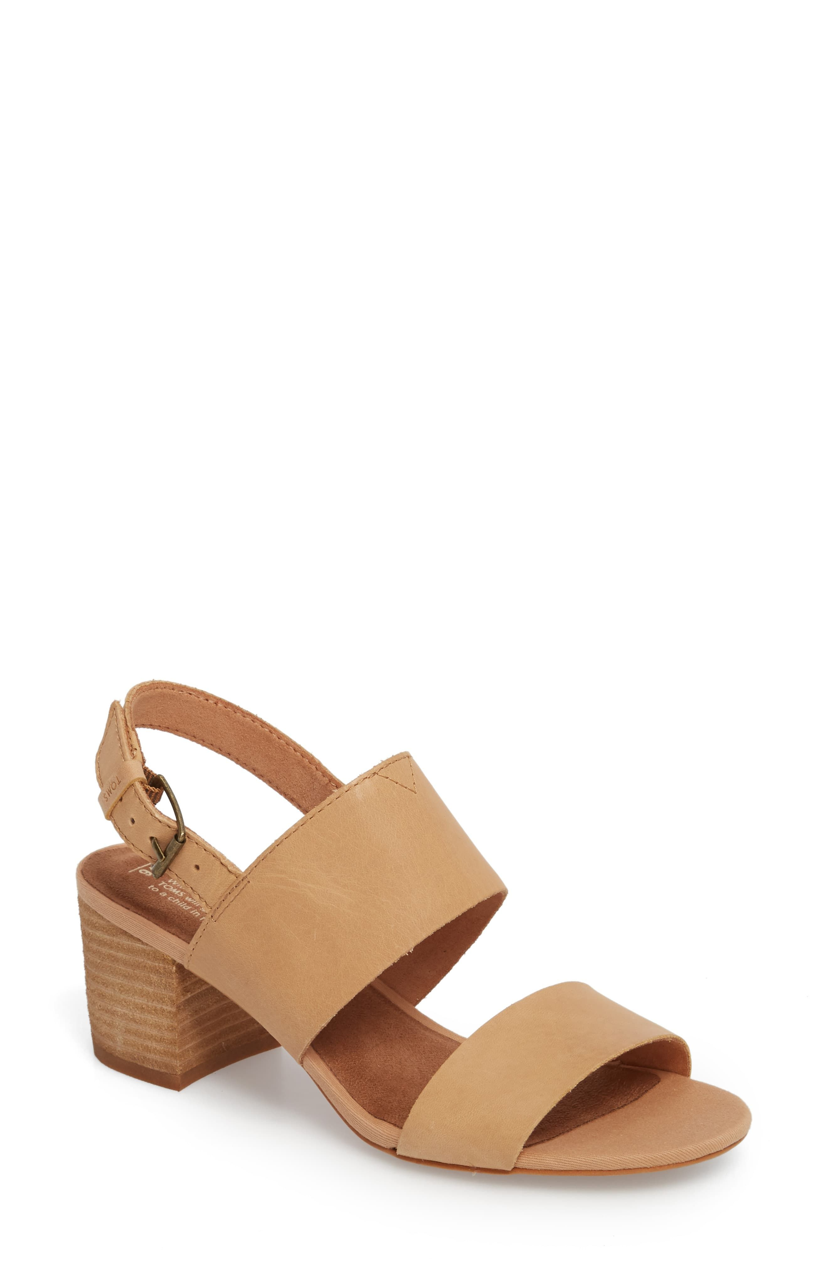 94c6d1c1863 Women's Toms Poppy Sandal, Size 5 B - Black in 2019 | Products ...