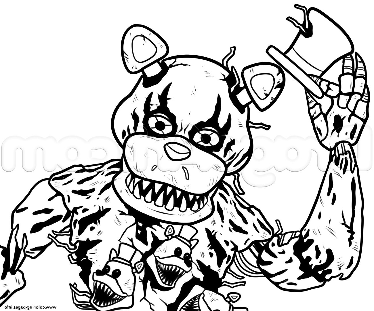 Five Nights At Freddy 039 S Coloring Pages Fnaf Coloring Pages