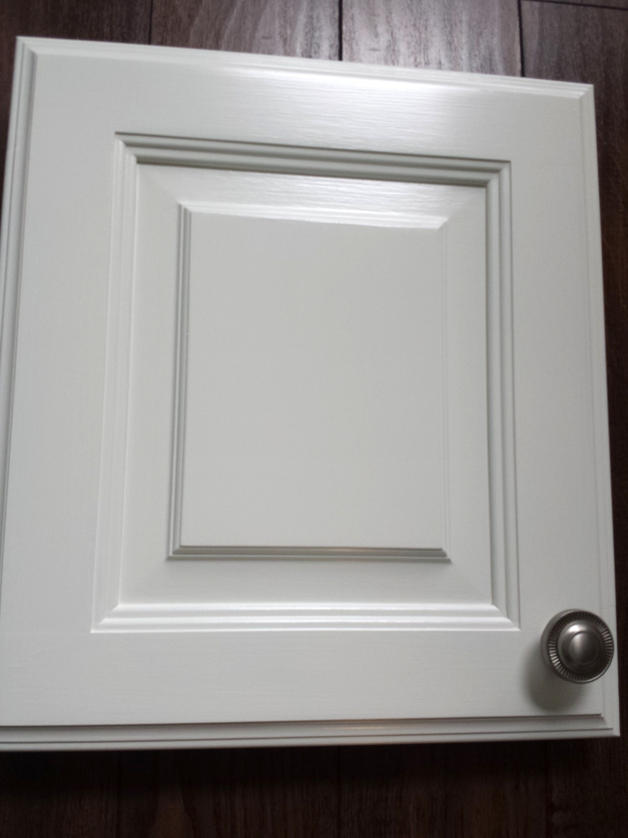 Benjamin Moore White Dove in Advance Paint. Hardware from ...