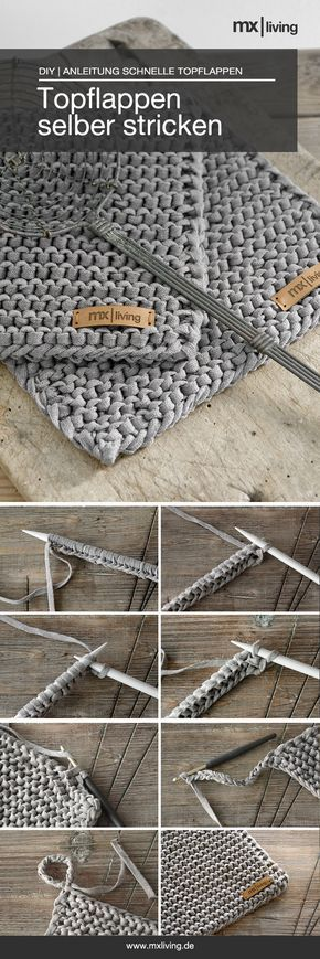 DIY | Topflappen stricken - mxliving #textilepatterns