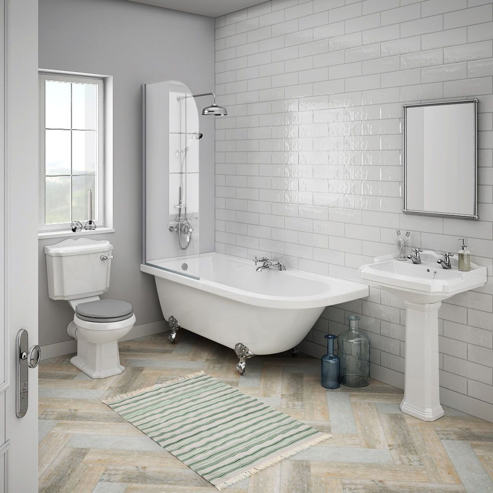 Incroyable Appleby Traditional Bathroom Suite With Westbury Gloss Metro Tiles | 7  Traditional Bathroom Ideas