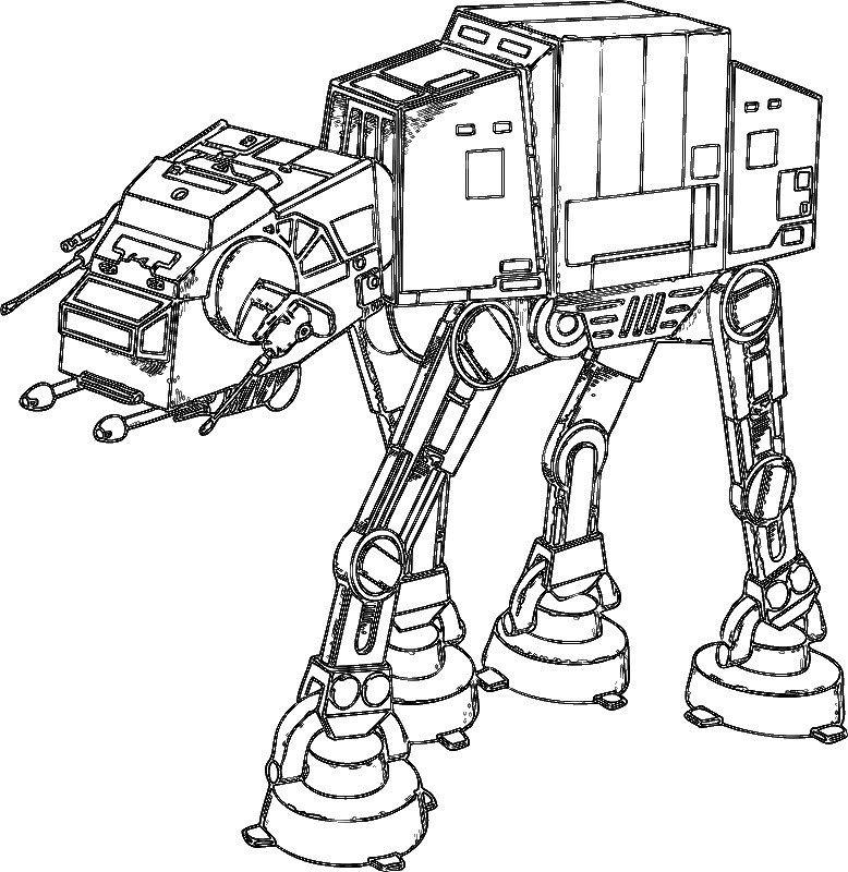 Kostenlose Ausmalbilder Star Wars. Zum Speichern einfach eine