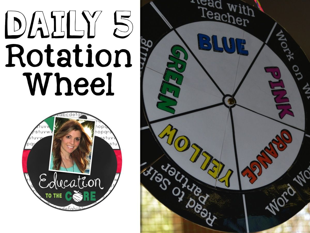 Education to the Core: FREE Daily Five Rotation Wheel for Centers