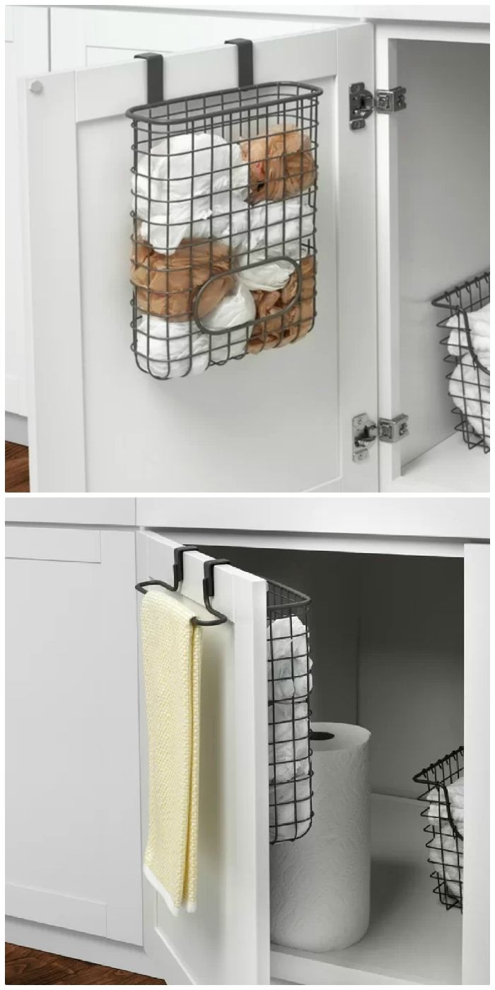 Turn your doors into storage space with these 20 clever ideas - Over the door towel and bag holder