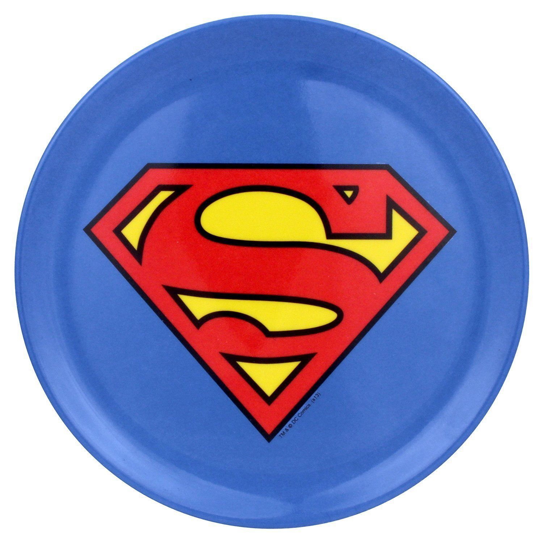 Details About Superman Logo Warner Bros Plates Multicolor