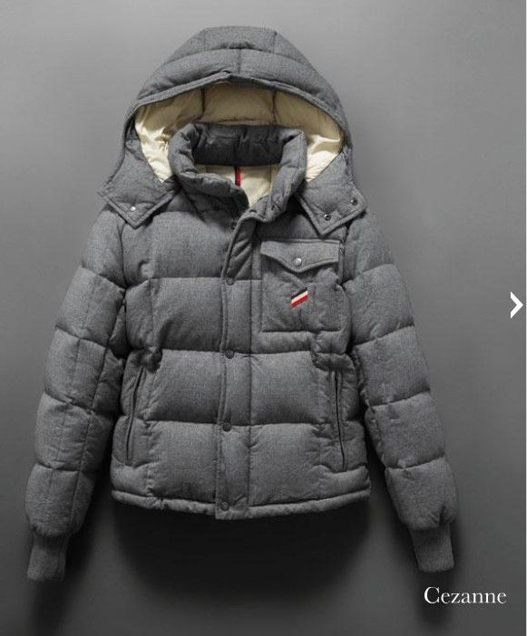 Wholesale Moncler Cezanne Quilted Flannel Jacket For Herr Grey - $211.65