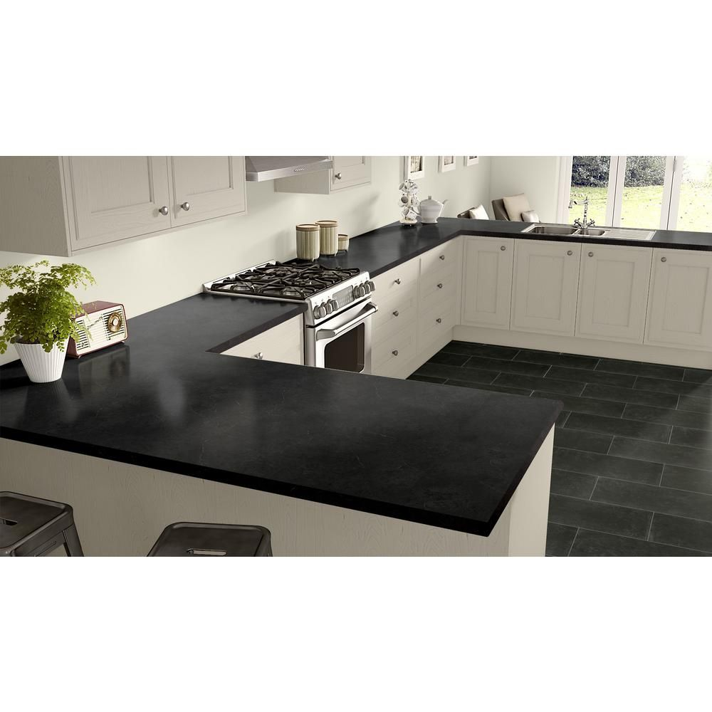 Wilsonart 60 In X 144 In Laminate Sheet In Black Alicante With