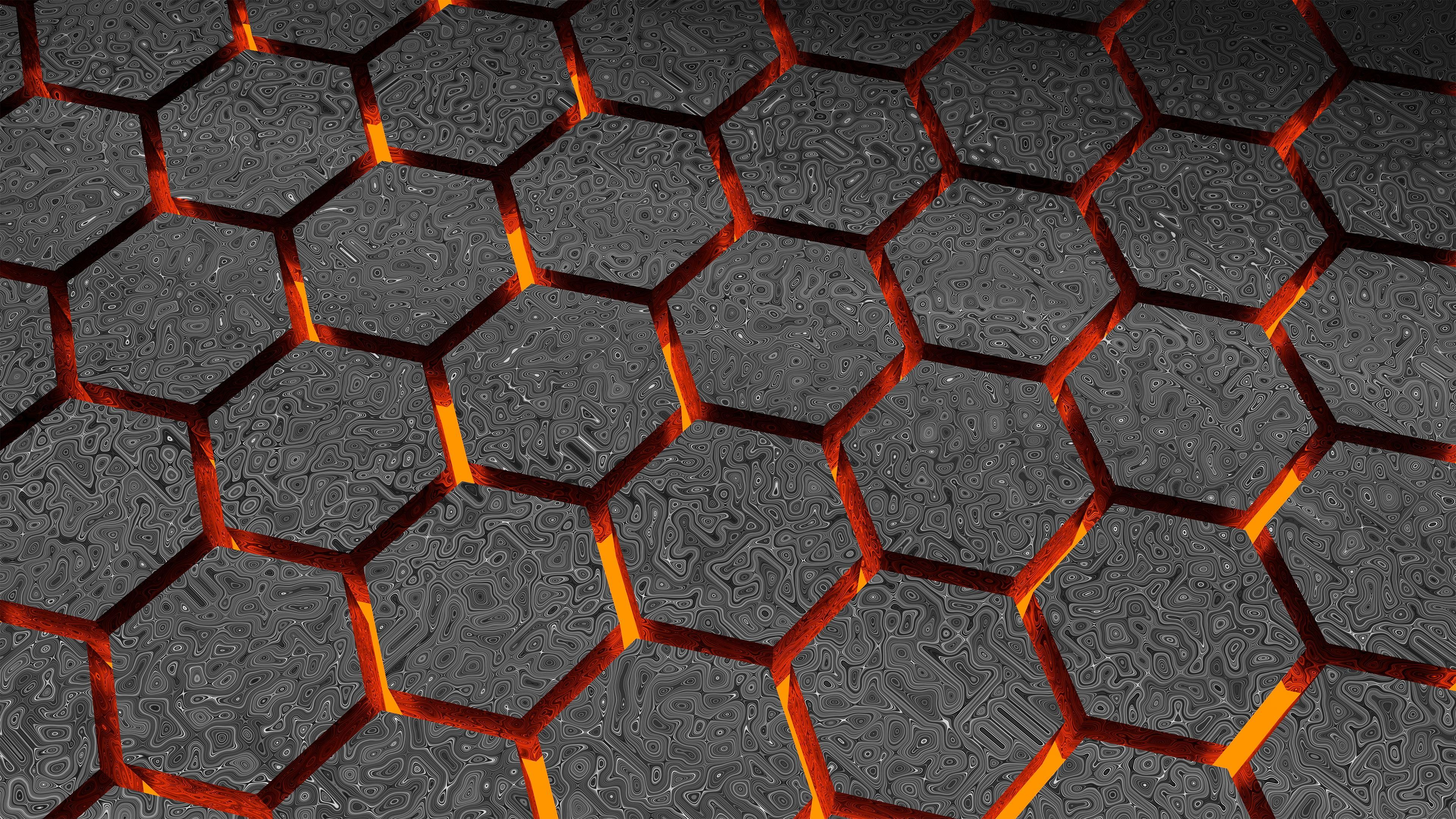 3d Hexagon Abstract Hd 4k Lava 4k Wallpaper Hdwallpaper Desktop In 2020 Geometric Digital Wallpaper Digital Wallpaper Cartoon Wallpaper Hd