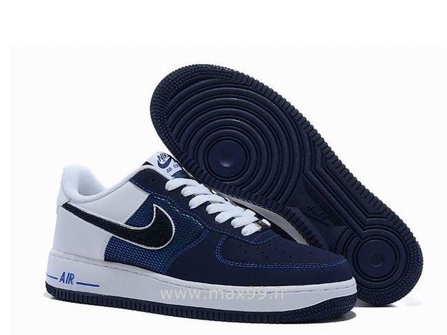 online retailer de3b4 8795a Nike Air Force 1 Basse Navy Blanc Chaussure pour Homme Nike Air Force 1  Blanc Femme