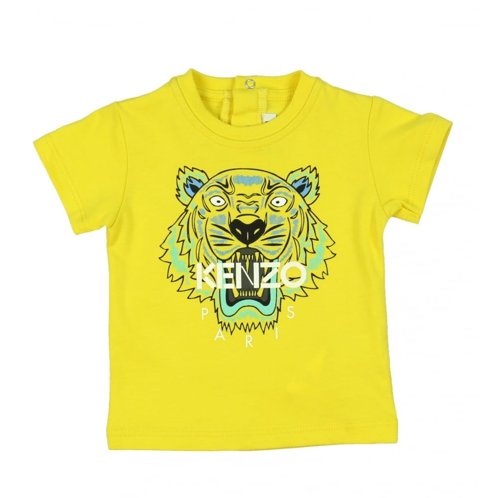 3e7aaedf Baby Boys Yellow Tiger Print T-Shirt. Available now at  www.chocolateclothing.co.uk