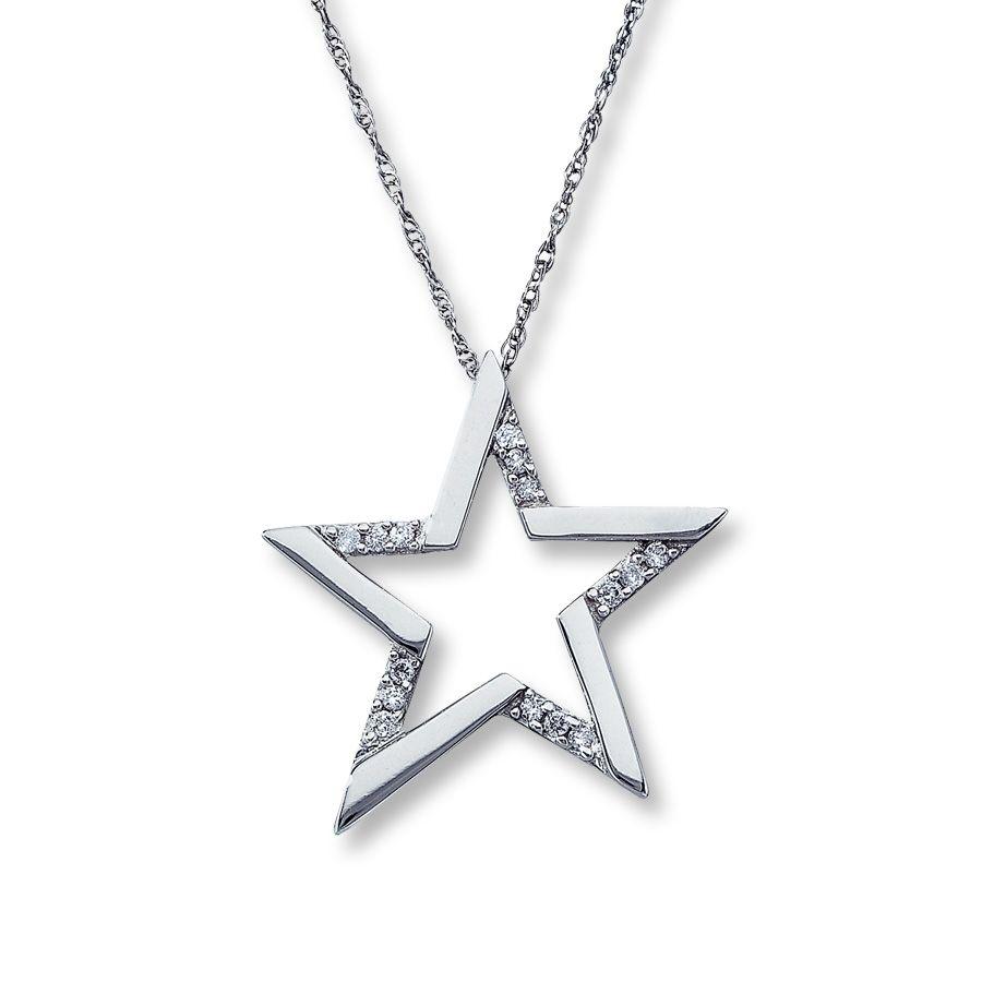 Diamond star pendant email diamond star necklace 110 ct tw round diamond star pendant email diamond star necklace 110 ct tw round cut aloadofball Images