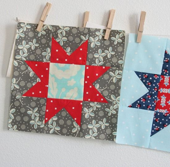 Star Block from Cluck, Cluck, Sew - makes a great patriotic quilt