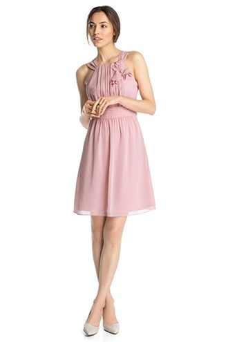 Esprit chiffon kleid rosa
