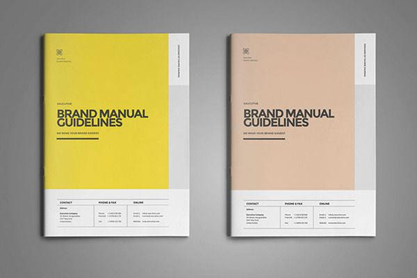 Brand Manual Template By Fahmie On Creative Market Brand Manual