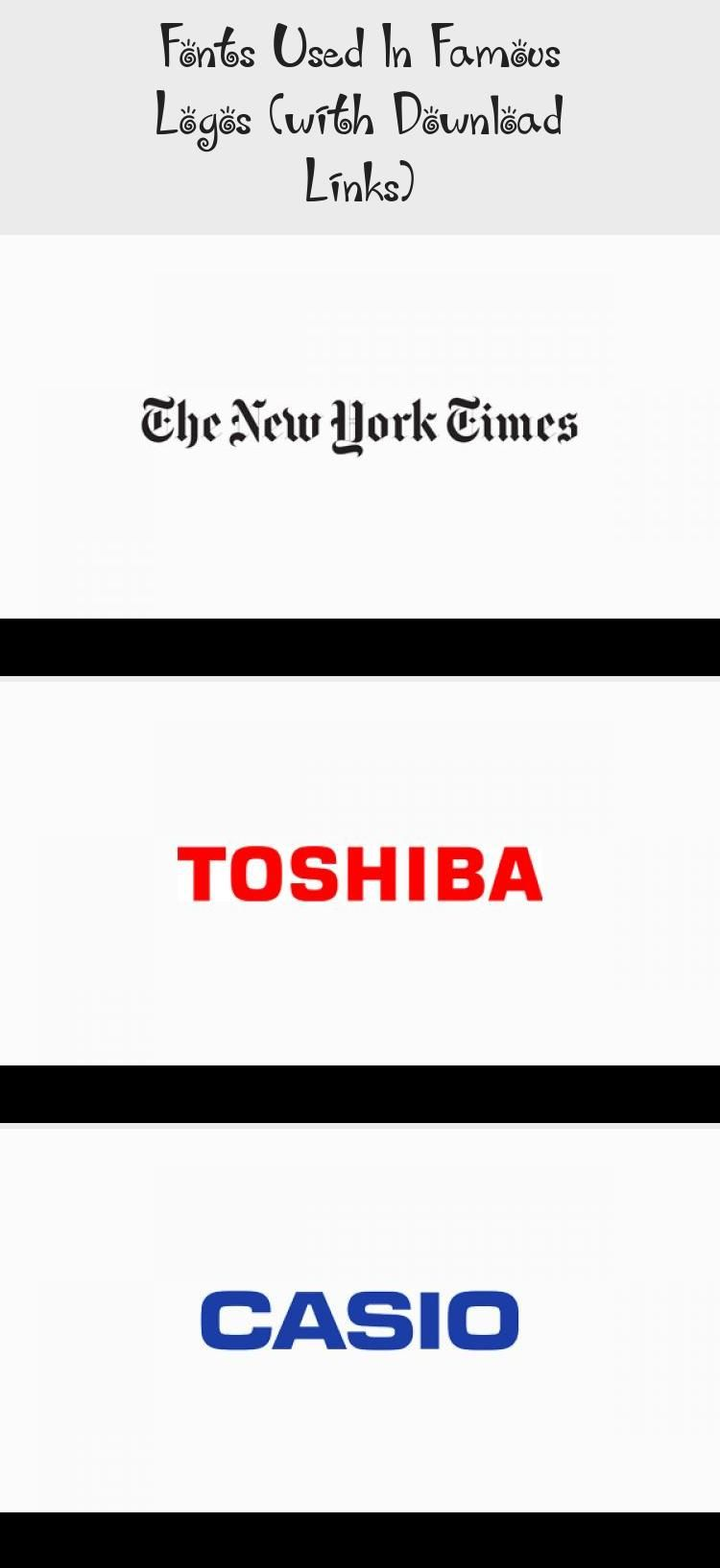 Fonts Used In Famous Logos With Download Links In 2020 Famous Logos Company Logo Famous