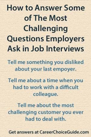 The most difficult interview questions employers ask Resume