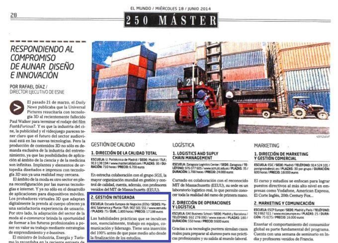 Nuestro Máster en Gestión Integrada vuelve a ocupar posición de privilegio en el Ranking de El Mundo http://www.een.edu/nuestro-master-en-gestion-integrada-vuelve-a-ocupar-posicion-de-privilegio-en-el-ranking-de-el-mundo