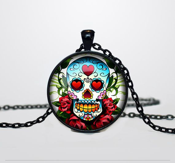 Rainbow Skull Necklace | Community Post: 24 Perfectly Spooky Halloween Accessories You Need To Own