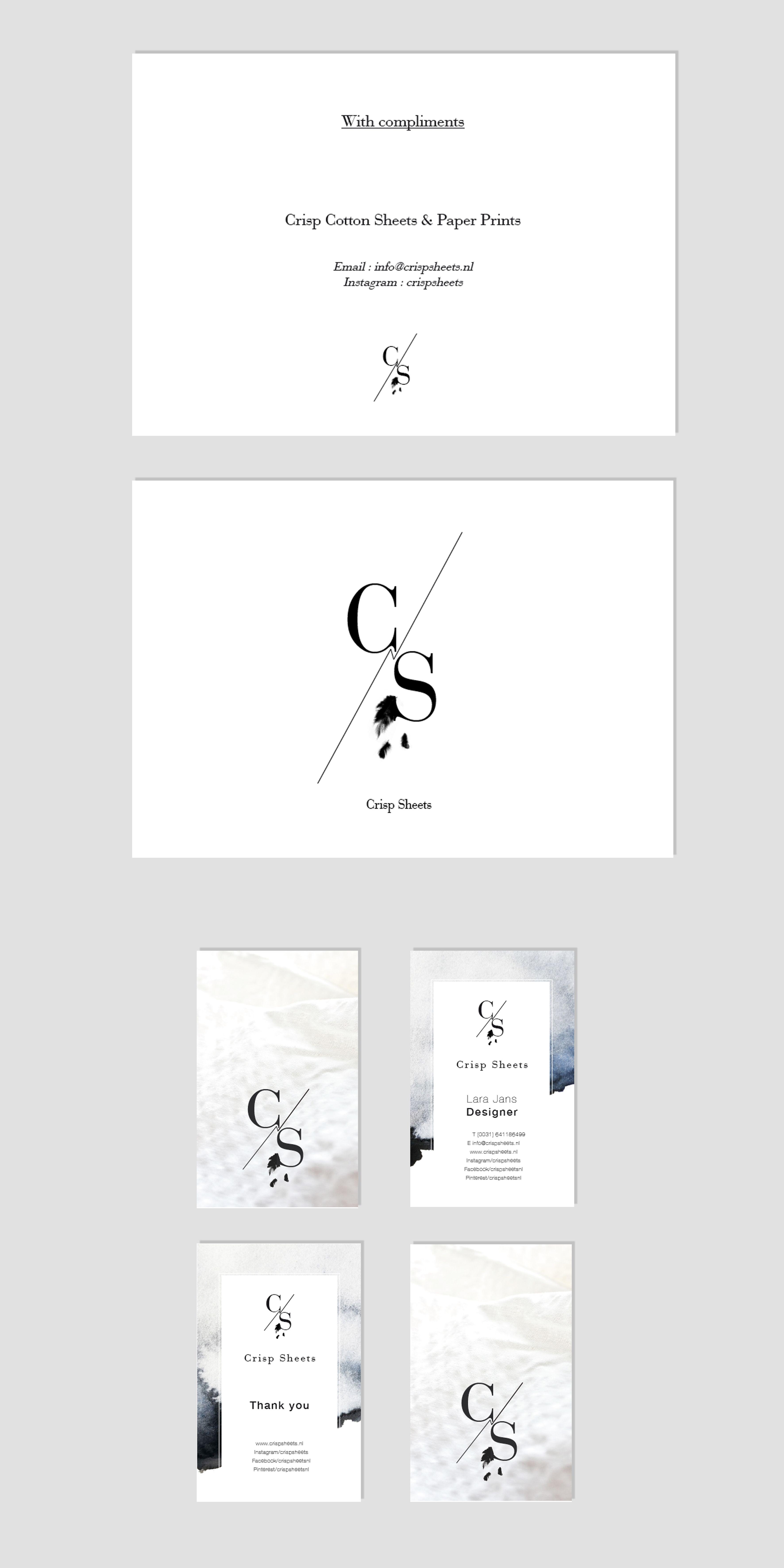 Logo Branding Packaging Business Card Thank You Card Aquarelle Crisp Sheets Name Card Design Colorful Business Card Thank You Card Design