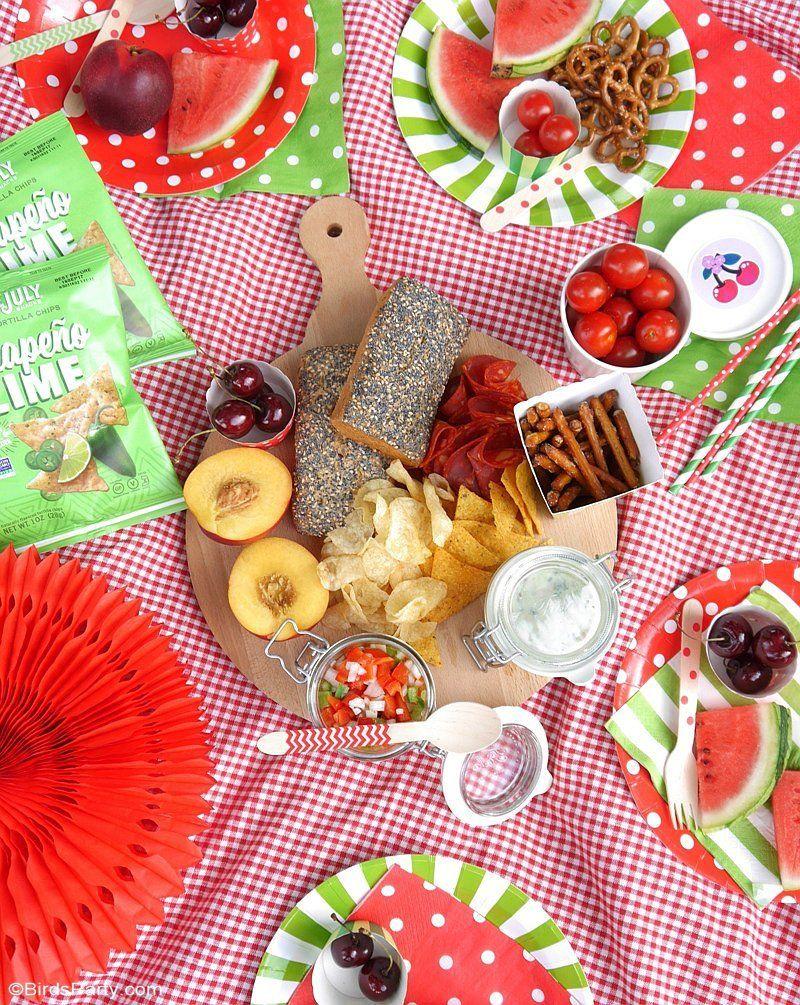 Idées Faciles pour une Pique-Nique Party - un décor rapide et mignon, des idées DIY et recettes maison pour un dîner apéro estival al fresco! by BirdsParty.fr @birdsparty