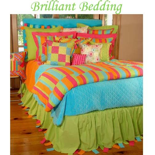 Kids bedding bed sets for teen girls brightly colored for Bright teenage bedroom designs