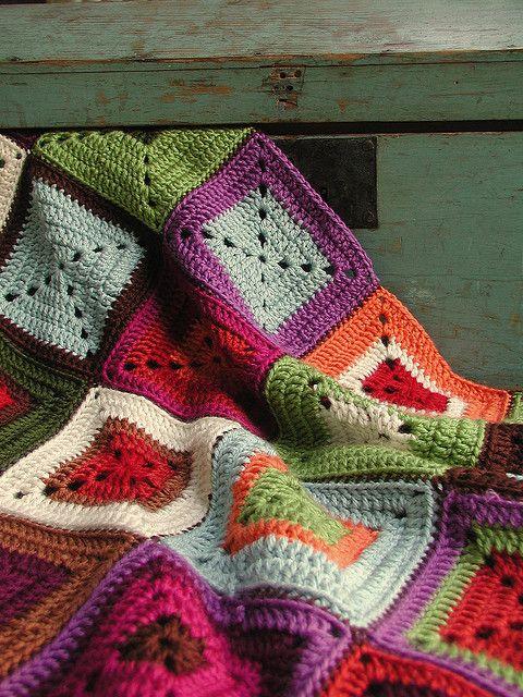 pretty grannies, love the colors!
