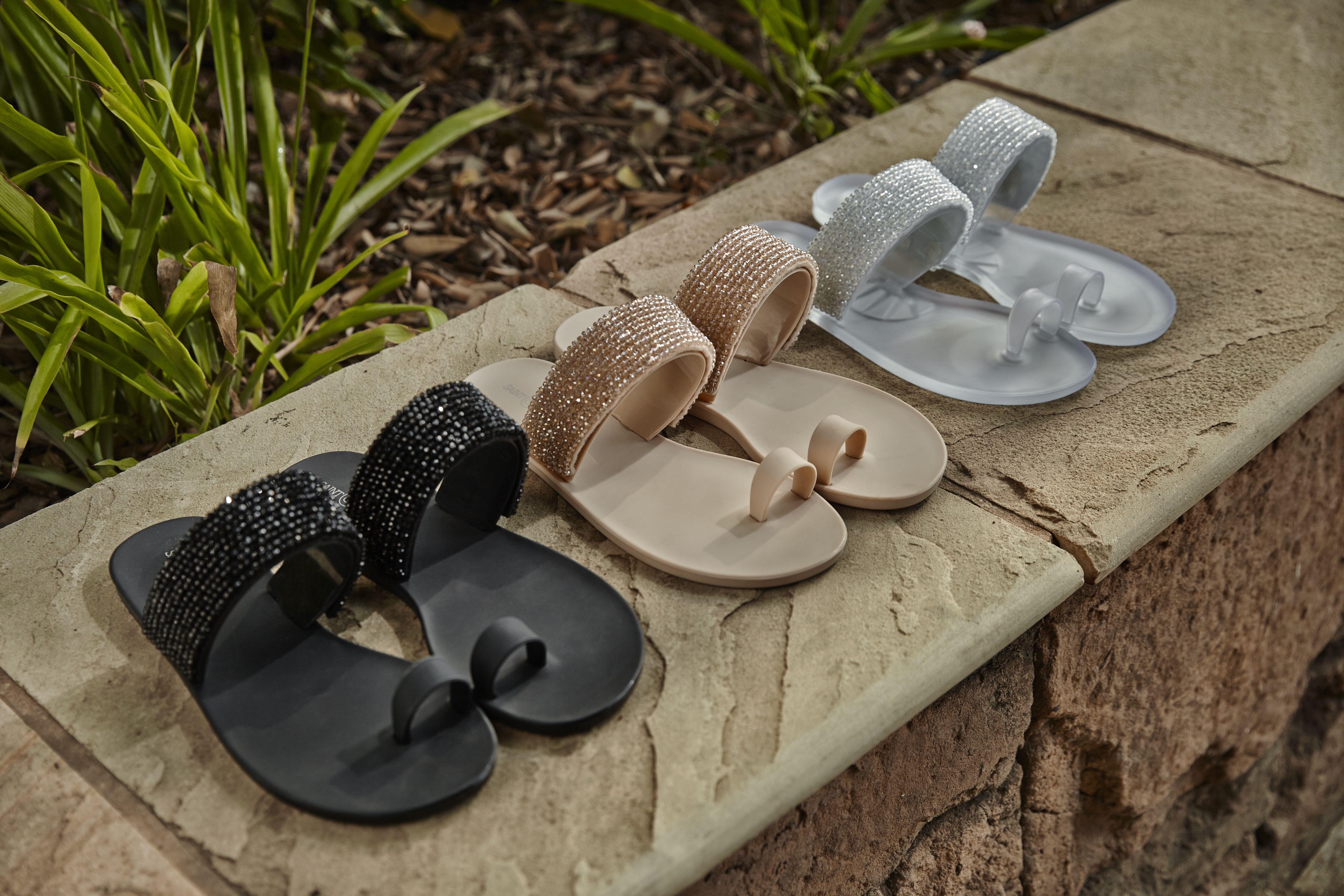 Yves Saint Laurent Beige Starfish Jelly Sandals Size 10.5