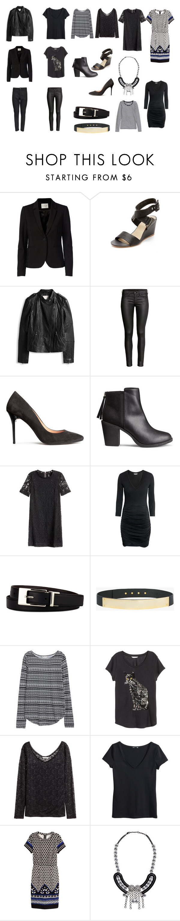"""Black"" by lone-haure-norrevang on Polyvore featuring FiveUnits, rag & bone, H&M, Liz Claiborne and Halston Heritage"