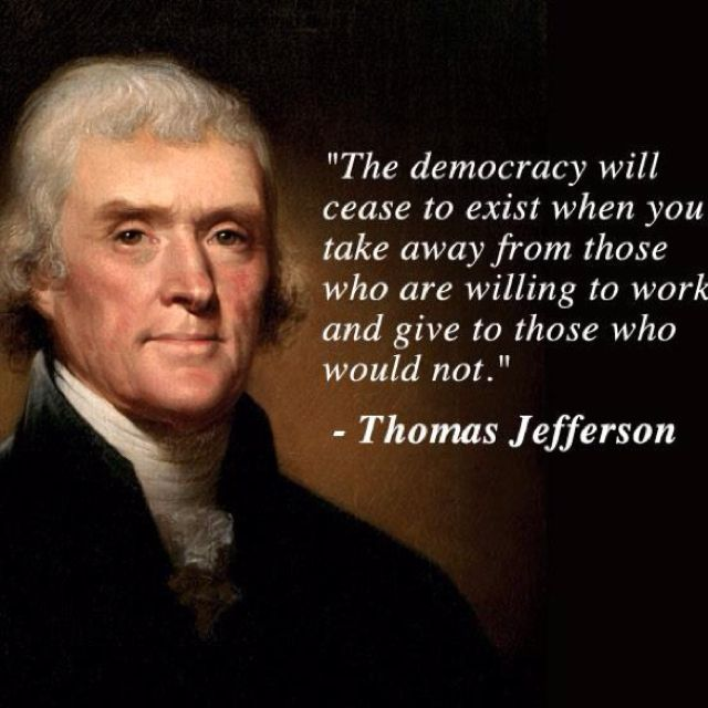 Famous Quotes Fatherhood: Democracy Quote By Thomas Jefferson