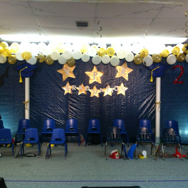 Our Decorations We Made For Preschool Graduation