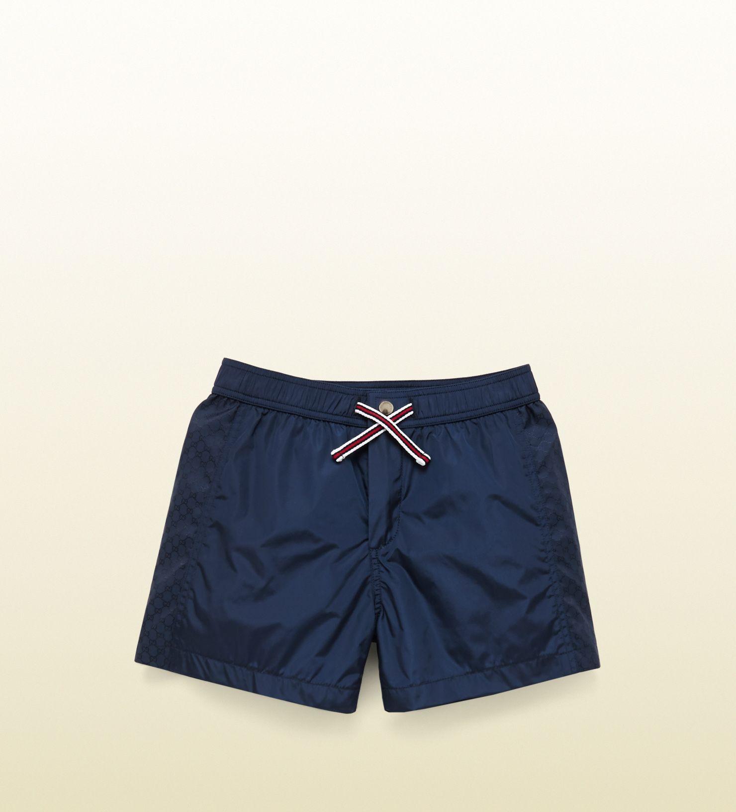 8214b723b012 Gucci navy blue swim short | Swimwear men en 2019 | Trajes de baño ...