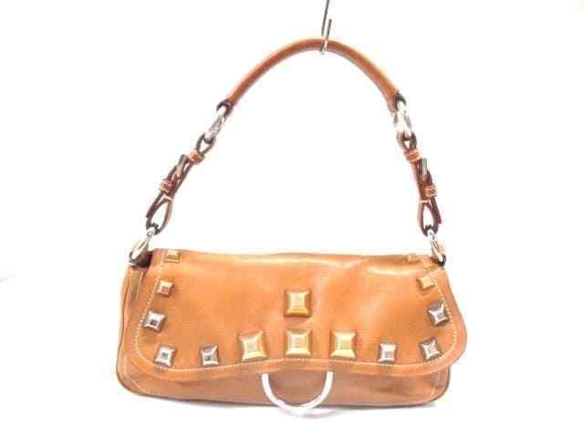 Auth Prada Brown Leather Handbag Ebay Link