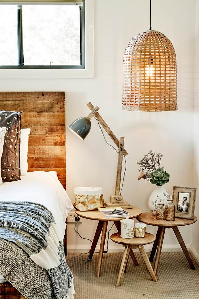 Basket lamp for bedside lighting modern industrial design boho also  country home with style furniture diy lamps rh pinterest