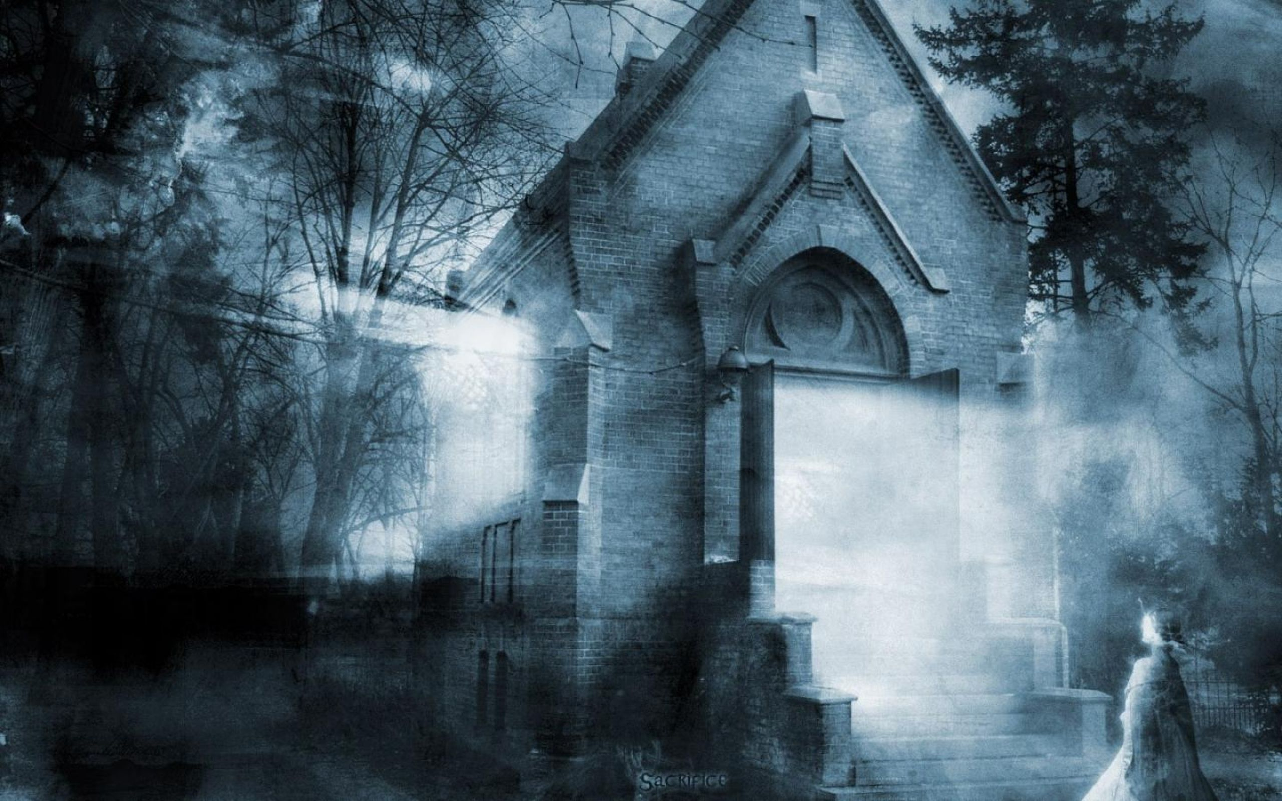 Very Scary Horror Wallpaper 2560x1600 Ghost Halloween Ghostly