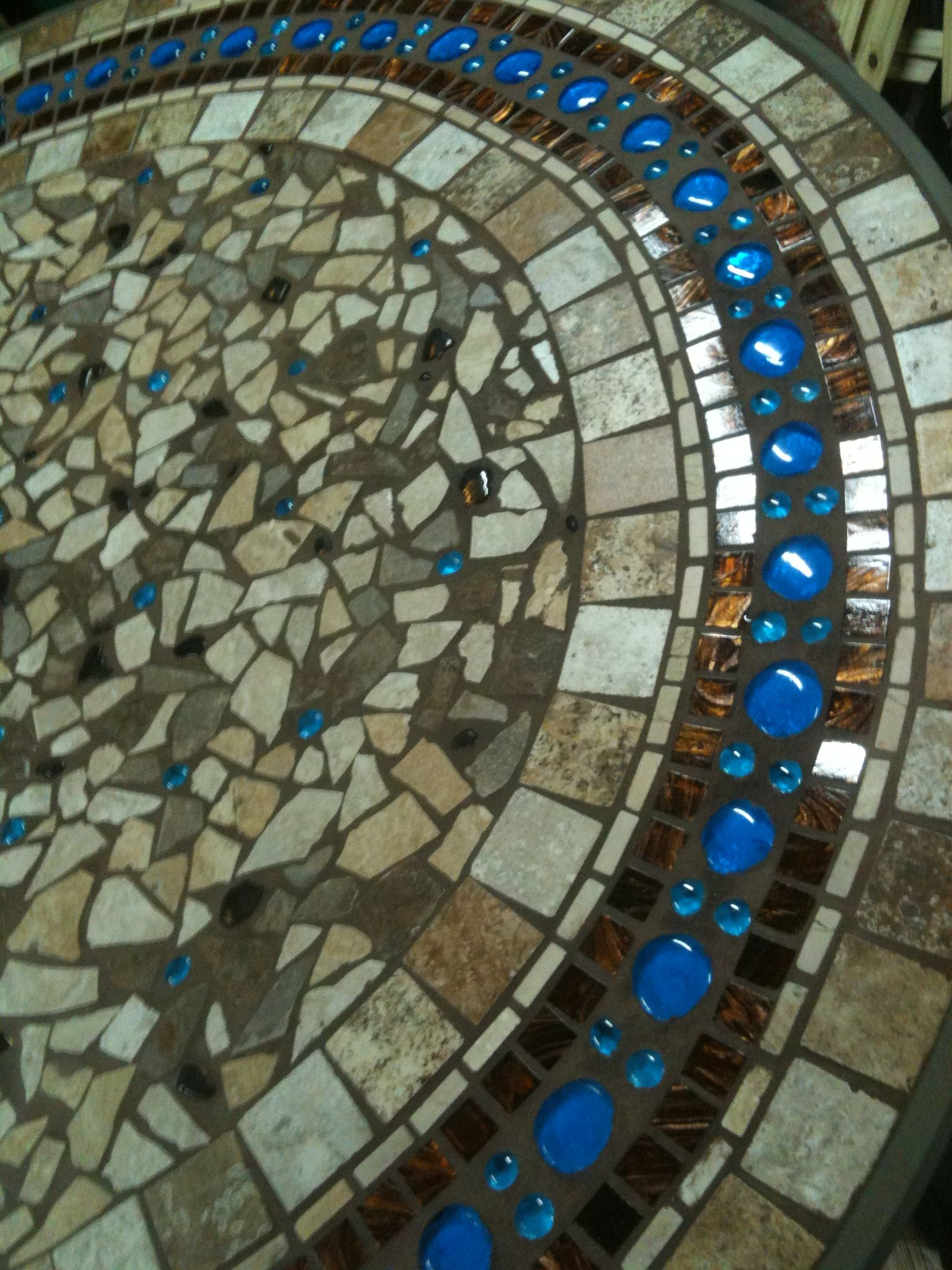 Mosaic Patio Table. Have Broken Pottery Iu0027ve Been Saving To Do Something  Like