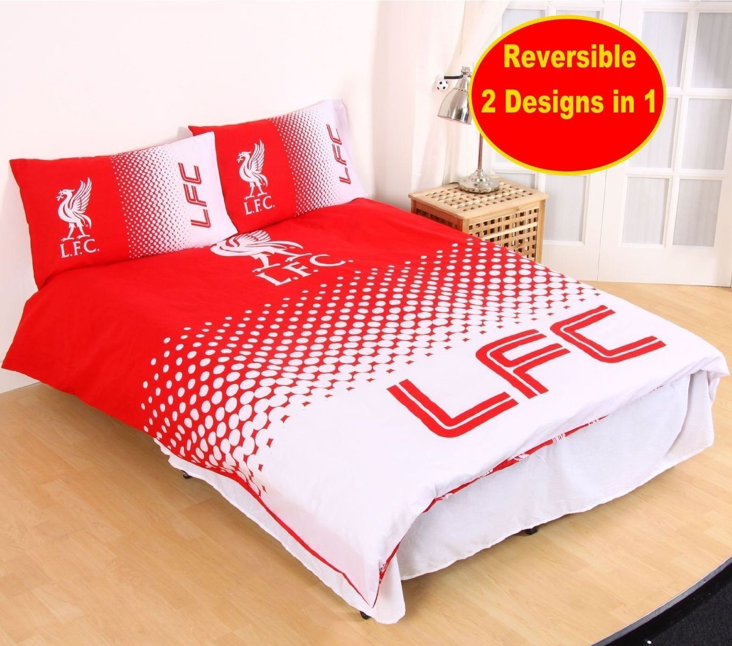 Boys Double Quilt Cover Liverpool Football Club Fade Double Duvet Quilt Cover Set Boys