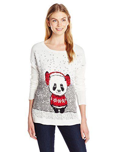 Notations Women\u0027s Panda Bear Ugly Christmas Sweater Christmas