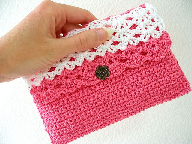 Bolso monedero en crochet Carteras monederos Pinterest Ideas