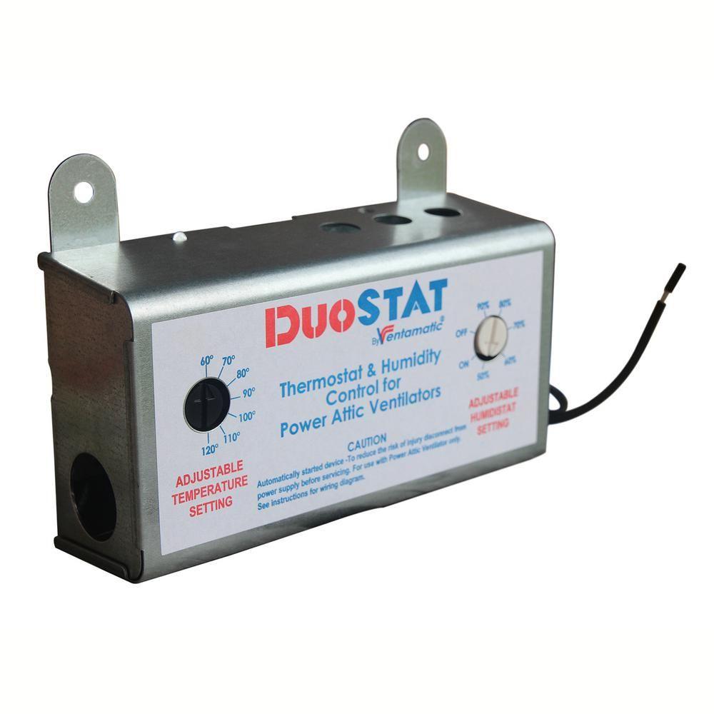 Cool Attic Ventamatic 1 Day Programmable Dual Thermostat And Humidistat Xxduostat Attic Fan Attic Vents Attic