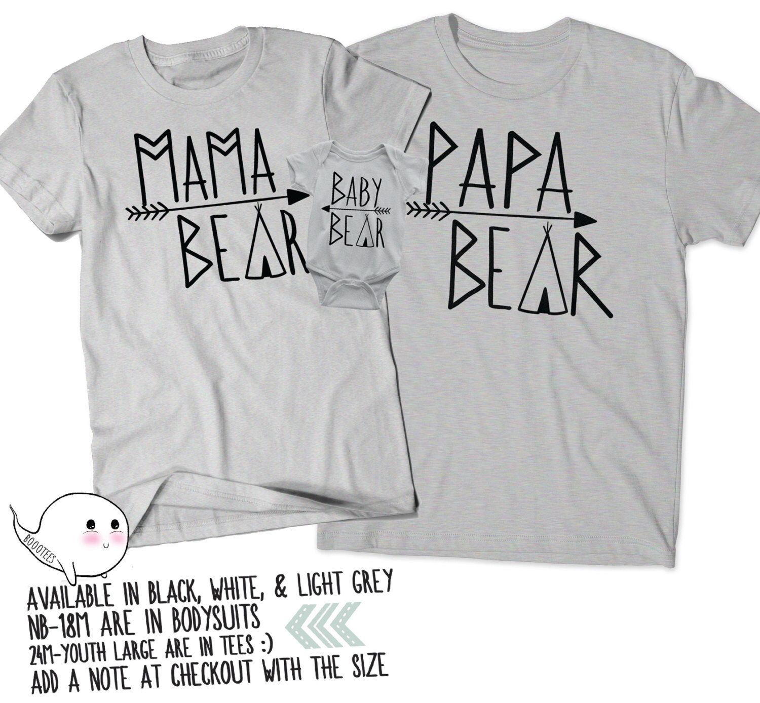 Fathers Day Gift Mommy Bear Daddy Bear Baby Bear Matching Shirts T-shirt Pregnancy Announcement Tee Dad Momma Mama Mom Present Shower Family iTnpiVu5C