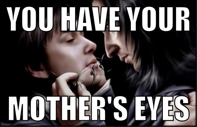 More Silly Harry Potter Memes Snape Meme You Have Your Mother S Eyes Memes Harry Potter Memes Eyes