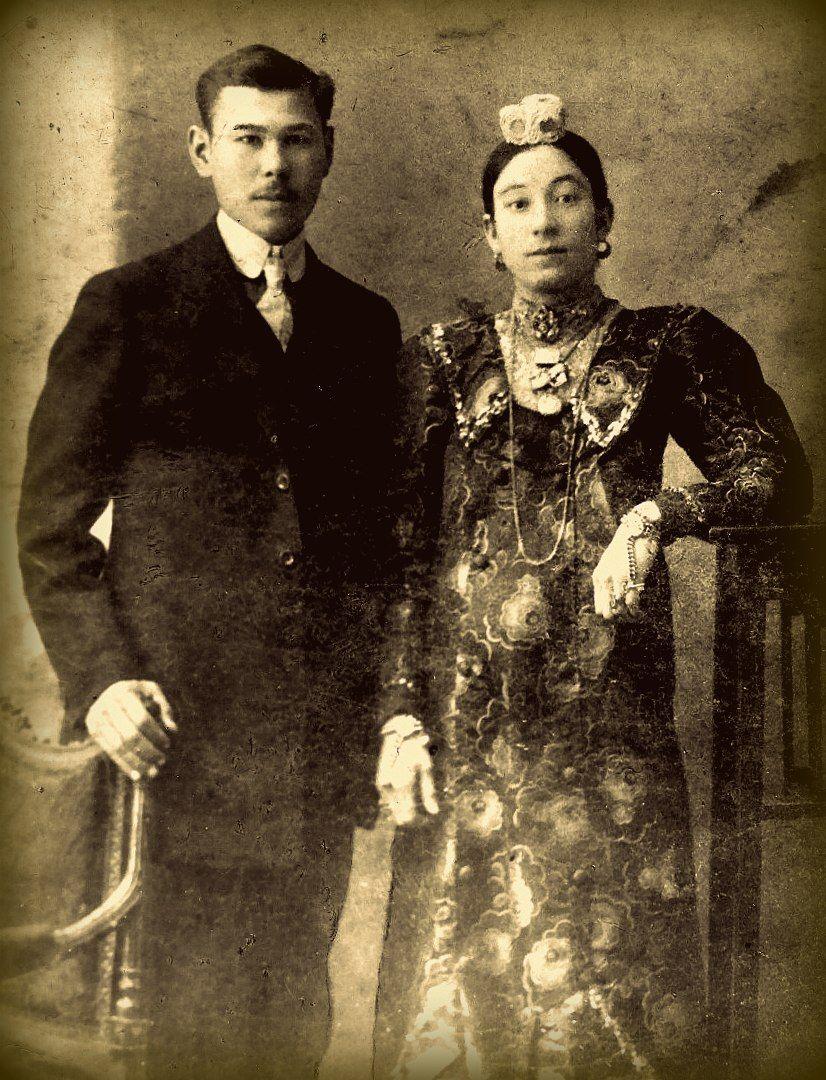 Tatars. Фаттах Гали-улы Абдуллаев и его жена Хаернися ханум