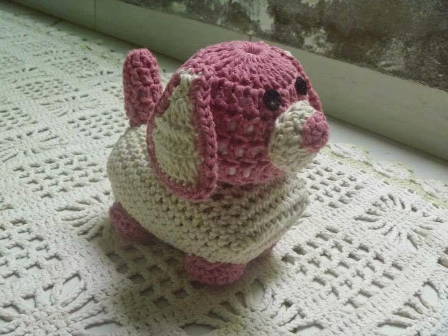 Muito Carine Strieder e seus Crochês: PAP Cachorrinho Peso de Porta por  BC27