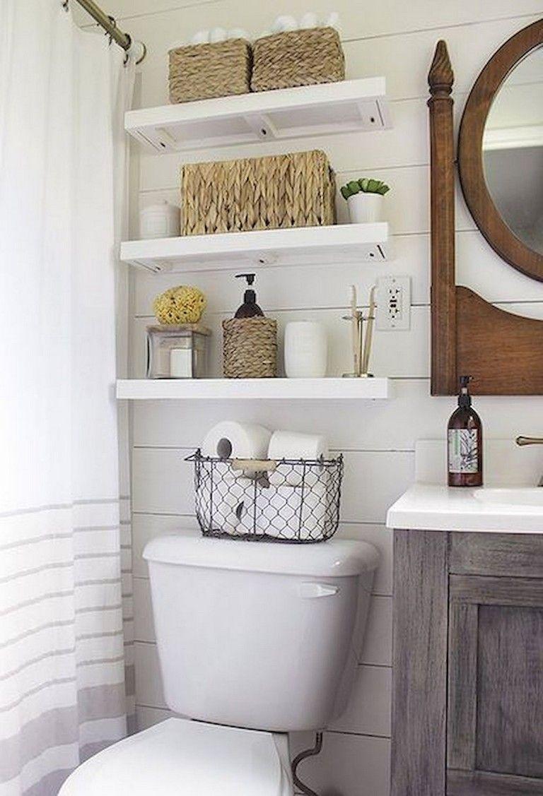 40 Awesome Diy Bathroom Organization And Storage Ideas Small Bathroom Decor Bathroom Organization Diy Small Bathroom Storage