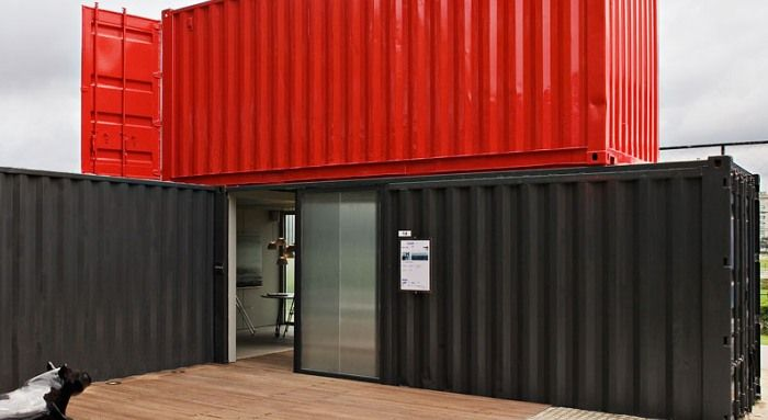 A Brazilian Cargo Container Office By Roccovidal Office Snapshots Container Office Container House Design Cargo Container