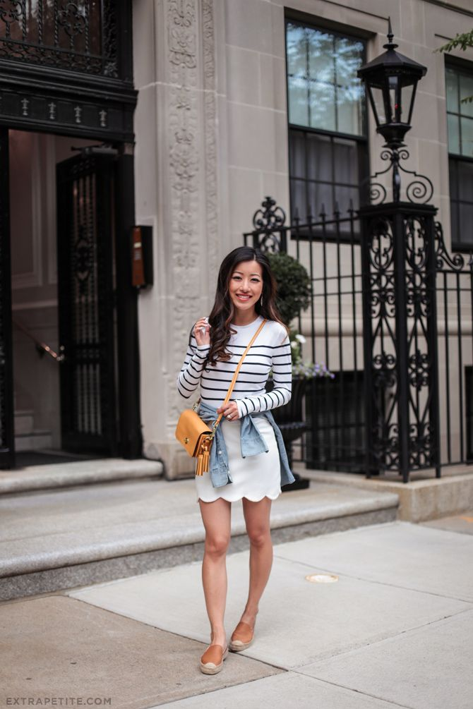 c7defd3f4a casual cute summer outfit with flats from extra petite blog